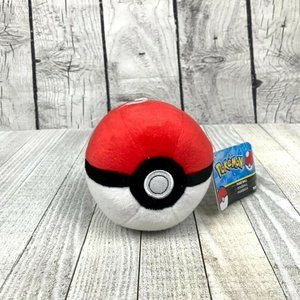 Pokeball Plush Red White Original Pokemon